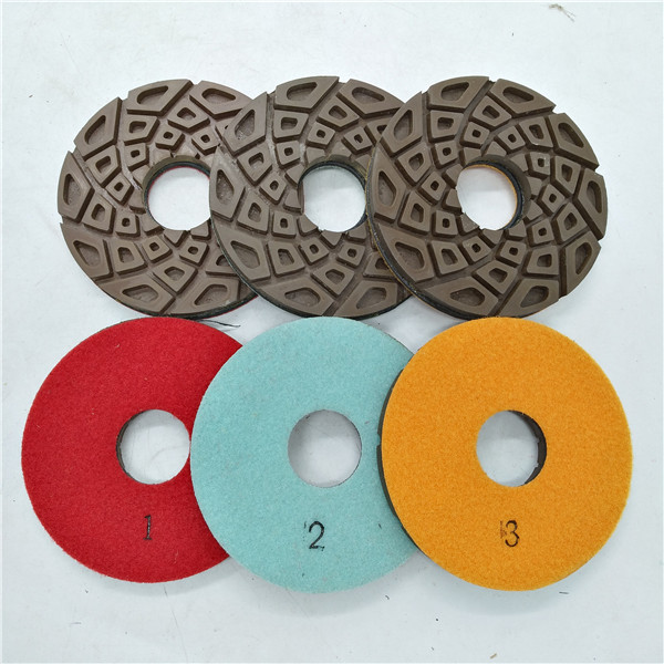 5 Inch 3 Step Resin Polishing Pad for Concrete Floor
