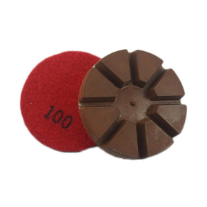 8 Triangles Diamond Resin-Copper Bond Floor Polishing Pads DMY-02A
