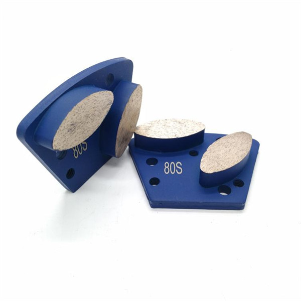 2 Oval Trapezoid Concrete Grinding Shoes For Floor