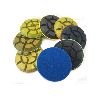 Velcro Backed Diamond Resin Bond Floor Polishing Pads For Concrete DMY-09