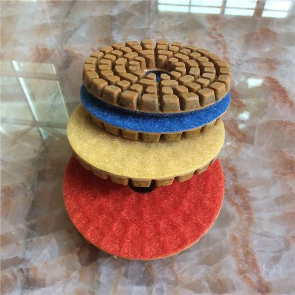 3 Step Floor Polishing Pads With 6 0mm Thickness For